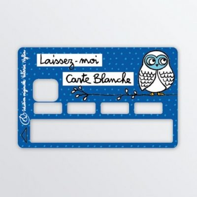 sticker carte bleue bleu